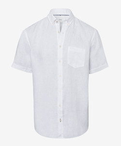 Brax Drake Linen Short Sleeve White