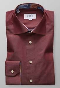 Eton Super Slim Uni Cotton Tencel Burgundy