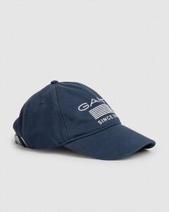 Gant 13 Stripes Jersey Cap Avond Blauw