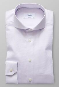 Eton Super Slim Micro Weave Melange Paars Melange