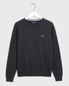 Gant Cotton Wool Pullover Dark Brown Melange