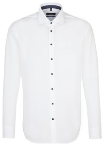 Seidensticker Business Uni Tailored Sleeve 7 Wit