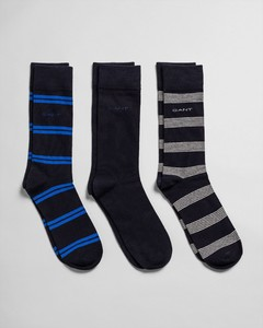 Gant 3Pack Mixed Socks Nautical Blue