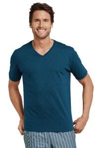 Schiesser Mix & Relax T-Shirt V-Neck Petrol
