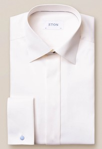 Eton Twill Evening Shirt Off White