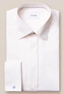 Eton Signature Twill Slim Evening Off White