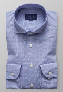Eton Prince of Wales Check Diep Blauw