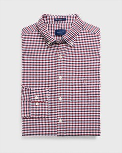 Gant The Oxford 3 Color Gingham Mahonie Rood