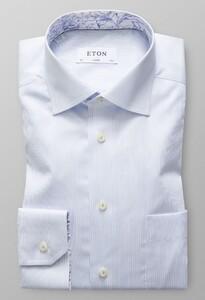 Eton Uni Floral Detail Licht Blauw