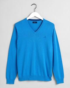 Gant Classic Cotton V-Neck Pacific Blue
