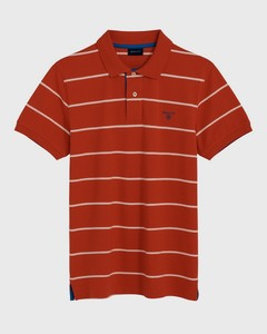 Gant Contrast Stripe Pique Rugger Red Orange