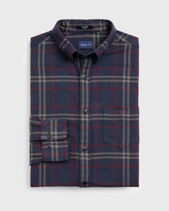 Gant Tech Prep Herringbone Check Evening Blue