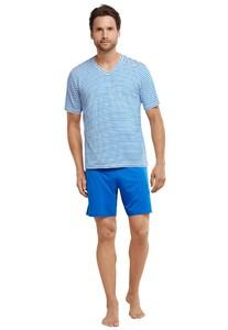 Schiesser Sportsclub Pyjama Kort Aqua