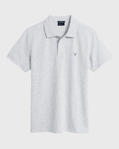 Gant Gant Piqué Polo Cloud Grey Melange