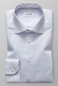 Eton Super Slim Signature Twill Licht Blauw