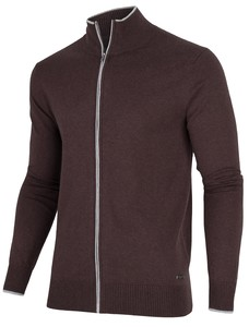 Cavallaro Napoli Antimo Cardigan Dark Brown Melange