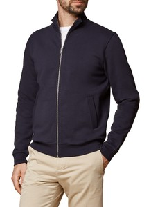 Maerz Zipper Cardigan Sweat Deluxe Navy