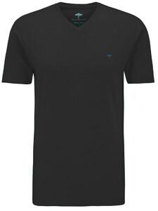 Fynch-Hatton V-Neck T-Shirt Black