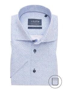 Ledûb Short Sleeve Mini Anchor Wit-Blauw
