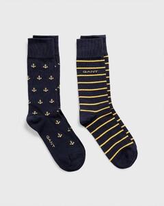 Gant 2-Pack Anchor Intarsia Socks Marine