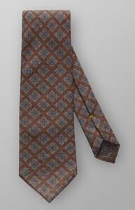 Eton Circle & Square Tie Deep Brown