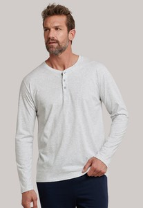 Schiesser Mix & Relax Cotton T-Shirt Knoopjes Grijs