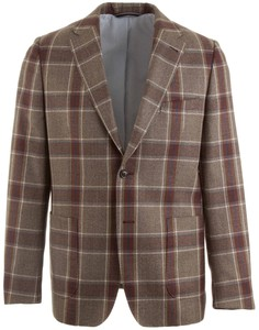 Gant The Double Check Blazer Bruin
