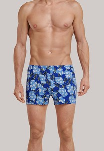Schiesser Lights on Blue Boxershort Blauw