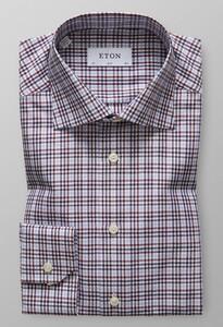 Eton Check Cotton Tencel Cutaway Multicolor