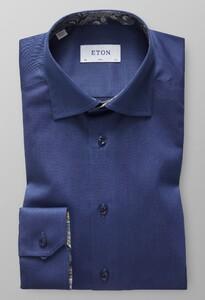 Eton Uni Signature Twill Paisley Detail Donker Blauw Melange