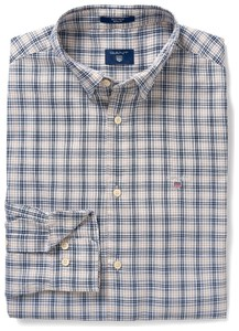 Gant Tech Prep Oxford Check Persian Blue
