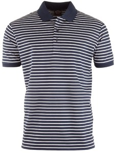 Paul & Shark Thin White Stripe Polo Navy-Wit