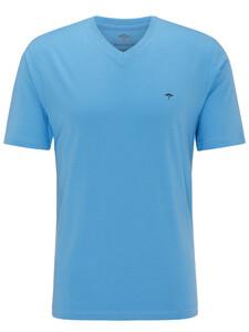 Fynch-Hatton V-Neck T-Shirt Spring Blue