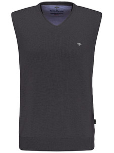 Fynch-Hatton Slipover Uni V-Neck Charcoal