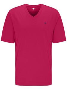 Fynch-Hatton V-Neck T-Shirt Fruit Pink