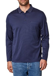Maerz Cotton Long Sleeve Polo Dodger Blue