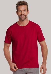 Schiesser Mix & Relax Cotton T-Shirt Ronde Hals Rood