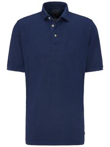 Fynch-Hatton Cotton Linen Blend Garment Dyed Midnight