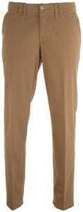 MENS Meran Modern-Fit Contrasted Flat-Front Zand