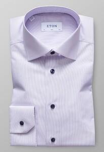 Eton Fine Striped Poplin Paars Melange