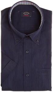 Paul & Shark Plain Collar Check Contrast Navy