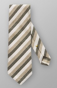 Eton Striped Tie Groen
