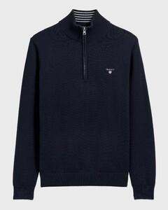 Gant Classic Cotton Half Zip Avond Blauw