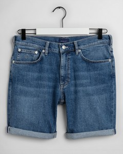 Gant Regular Gant Jeans Shorts Semi Light Indigo Worn In