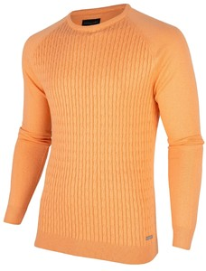 Cavallaro Napoli Ezio Cable Pullover Oranje