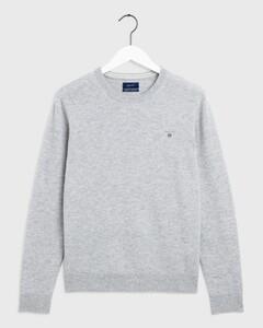 Gant Super Fine Lambswool Pullover Licht Grijs