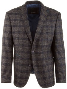 Roy Robson Shape Fit Blue-Grey Check Blauw-Grijs
