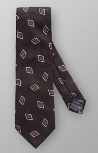 Eton Square Silk Tie Donker Bruin Melange