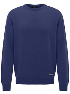 Fynch-Hatton O-Neck Cashmere Ultramarine