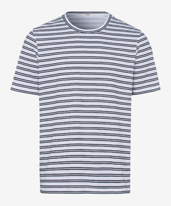 Brax Troy Striped Shirt Dark Navy
